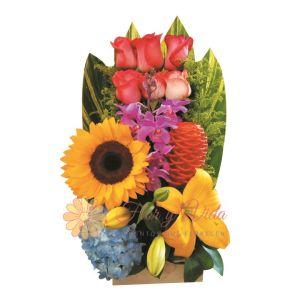 Arreglo floral con hortensia
