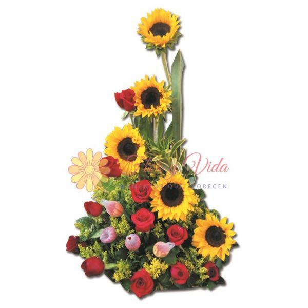 Arreglo floral con gerbera