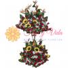 Destello arreglo floral de 2 pisos | flor y vida