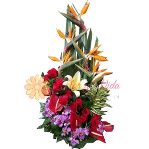 Romantico arreglo floral | flor y vida