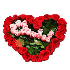 Hacerte feliz corazón arreglo floral   flor y vida