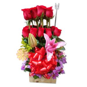 Amanecer arreglo floral   flor y vida