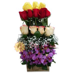 Conquistador arreglo floral   flor y vida