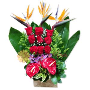 felicitaciones arreglo floral flor y vida