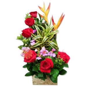 A tu lado arreglo floral  flor y vida