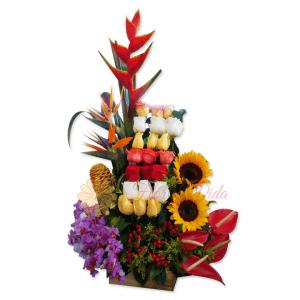Poder arreglo floral   flor y vida