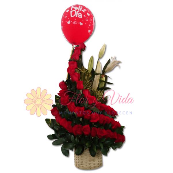 Rubí arreglo floral |flor y vida