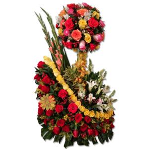 Celeste arreglo floral   flor y vida