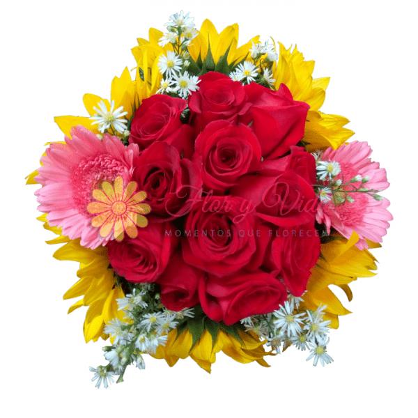 Bouquet de rosas sensible | flor y vida