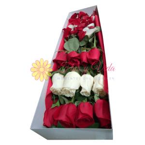 Amore caja de rosas | flor y vida
