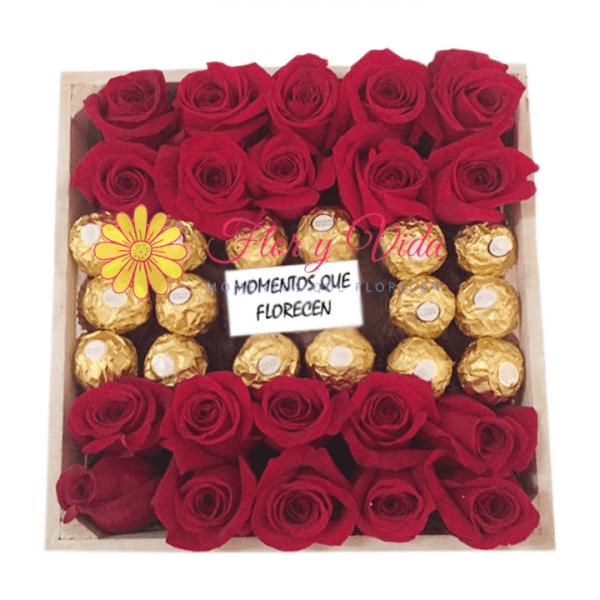Impulso caja de rosas | flor y vida