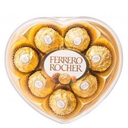 Corazon Chocolate ferrero x8 | flor y vida