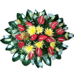 En un instante corona fúnebre | flor y vida