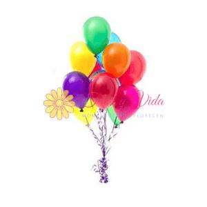 Globo en helio en cali clásico | Flor y vida