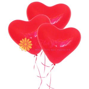 Globo en helio de corazón |flor y vida