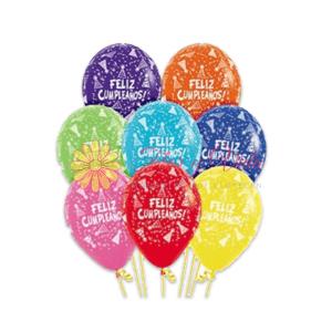 Globo en helio feliz cumpleaños | flor y vida