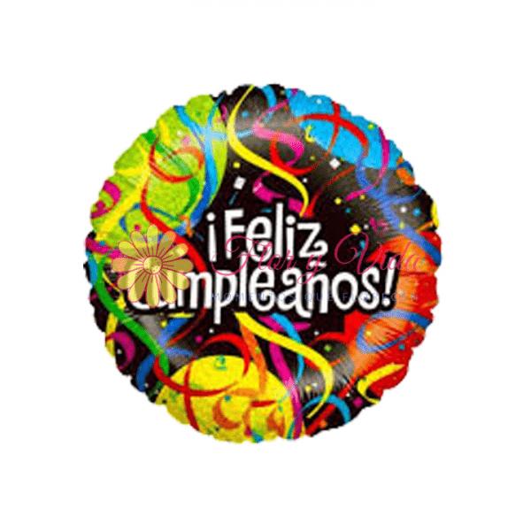 Globo metalizado en cali feliz cumpleaños   flor y vida