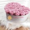 Caja corazón de rosas