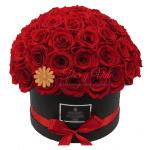 floristerías en cali Caja redonda de rosas